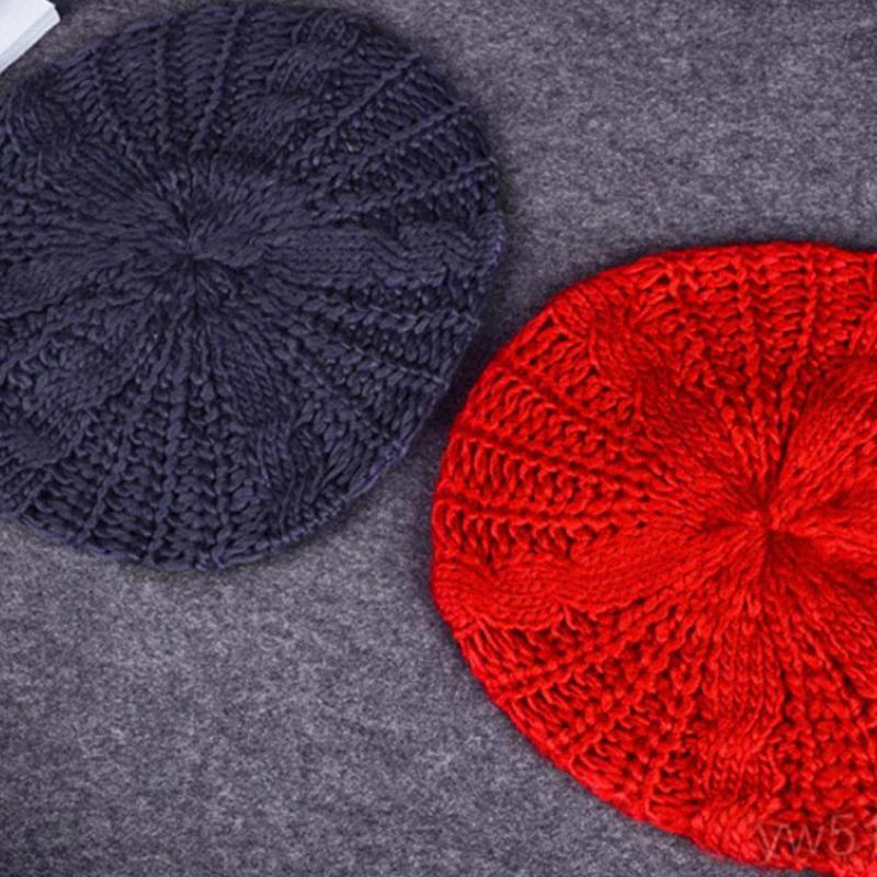 Модные теплые зимние Для женщин Берет Плетеный Багги вязания крючком Шапка-бини лыжный Кепки толстые женские Skullies шапочки