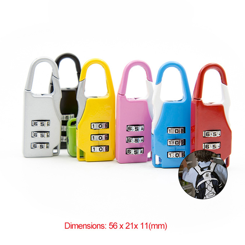 Digit Combination Lock Padlock Set, Metal Password Lock for School Gym Sports Trunk Box Bag Backpack Locker Fence Cabinet Locks Замок