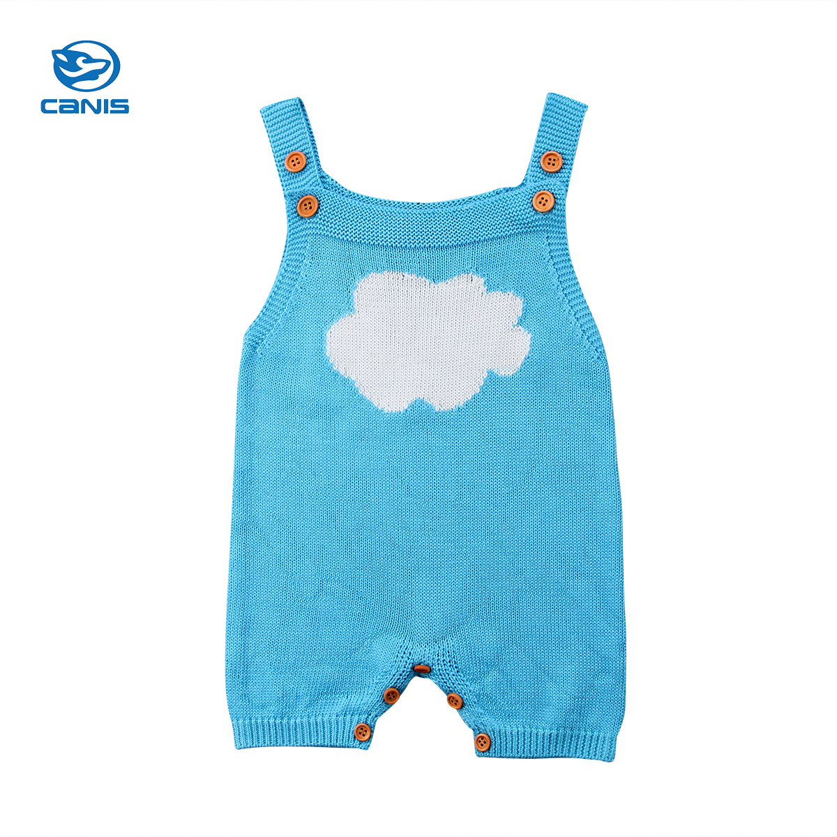 2018 Brand New Newborn Toddler Infant Baby Boy Girl Sleeveless Knit Romper Sunsuit Wool Outfits Lovely Cloud Clothes infant newborn toddler baby boy girl clothes summer spring romper playsuit casual short sleeve clothes solid outfits 0 24m