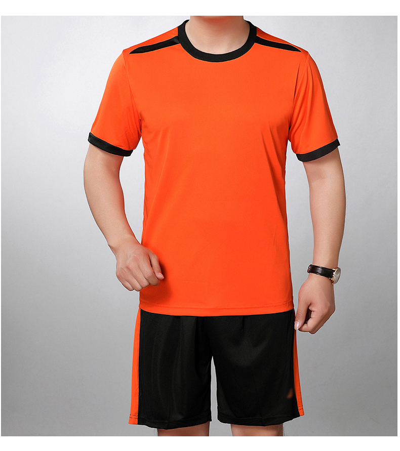 Man Tracksuit Summer Bright Color Two Piecs Short Pant Suit Set Male Casual Tshirt And Shorts Sets mens Tracksuits Yellow Orange Red Twinset (9)