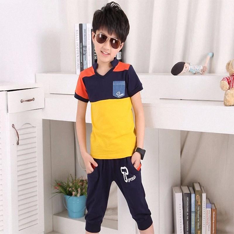 boy sport stripe clothing set (4)