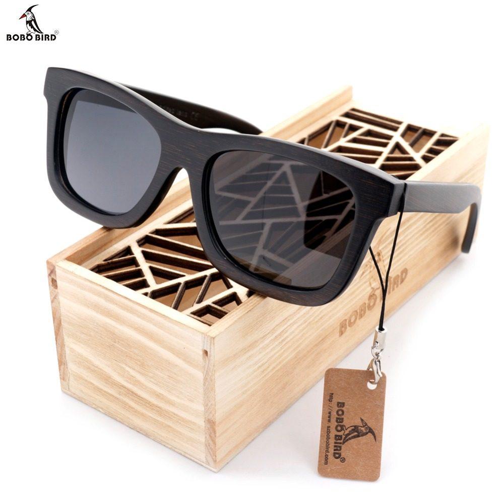 da3d0c62b1bf7 BOBO PÁSSARO Natural Premium Molduras De Madeira Originais Lente Polarizada  Óculos De Sol Dos Homens e