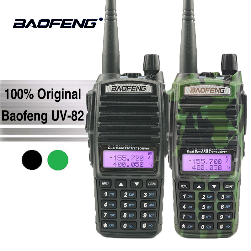 Baofeng UV-82 Walkie Talkie 10 km Dual PTT Two Way Radio Dual Band Portatile UV 82 Ricetrasmettitore UV82 Woki Toki ham CB Radio Station
