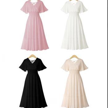 plus size dress white bandage elegant midi pink chiffon black office summer ruffle big vestiti donna v neck tallas grandes mujer 6
