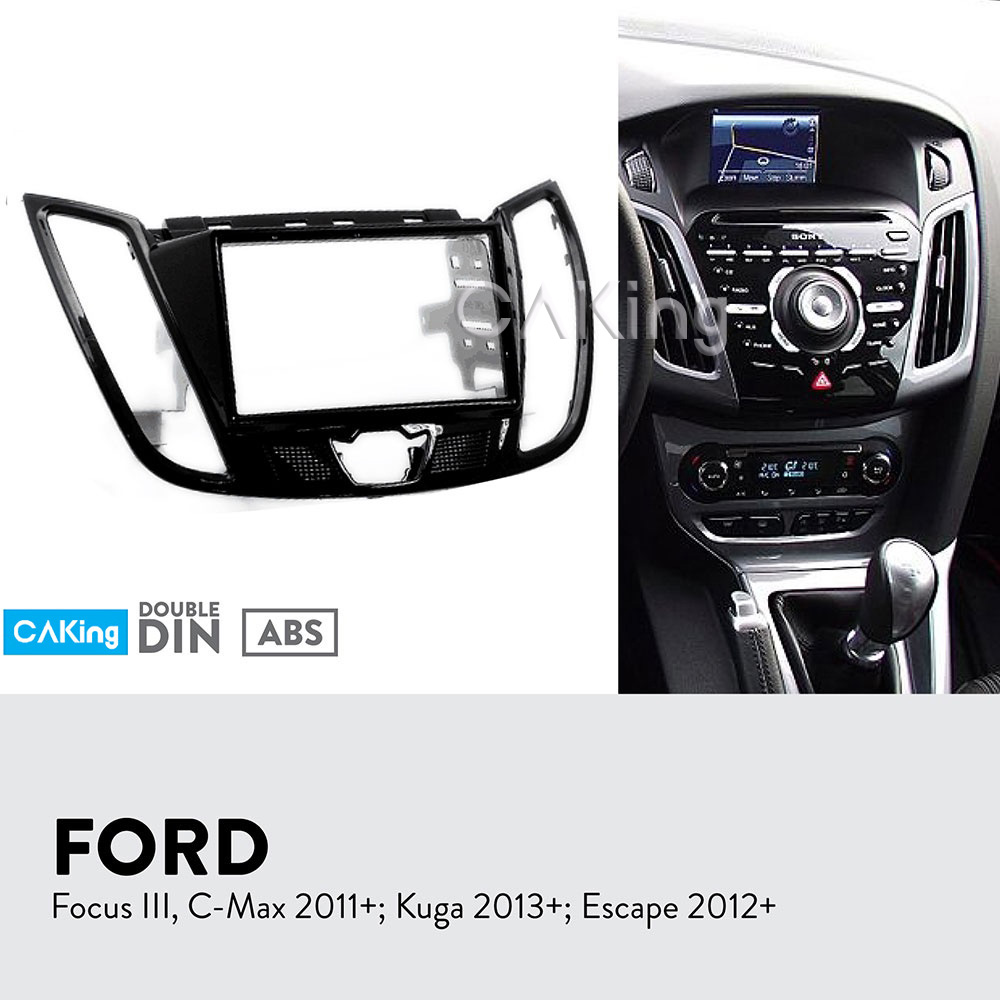 Car Fascia Radio Panel for FORD C Max 2010 Kuga 2013 Escape 2012 Dash Kit Install