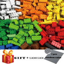 1000 Pieces Building Blocks City DIY Creative Bricks Bulk Model Figures Educational Kids Toys Compatible legoergy Duplo Bricks купить недорого в Москве