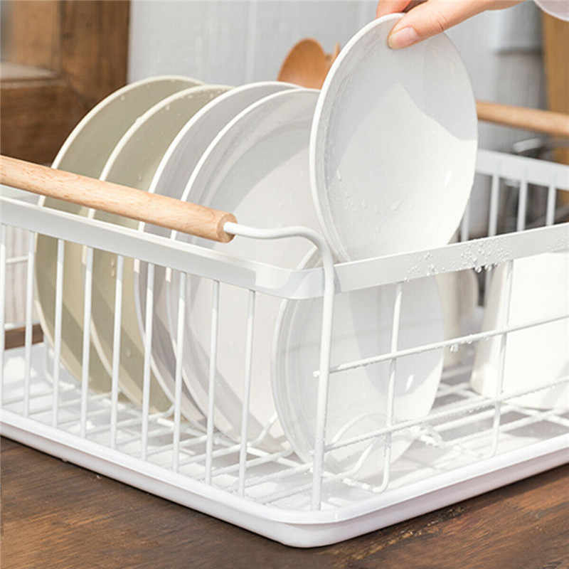 Cozinha Prato Copo De Secagem Rack Titular Organizador De Armazenamento Cesta Escorredor Pia Da Cozinha Grande Fio de Metal Talheres para Placas Tigela Copo