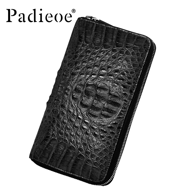 Padieoe Genuine Crocodile Leather Men wallet Real Croco skin business wallets Top quality Male Purse bag with Coin Pocket macygraymg real crocodile leather wallet man purse business purse men leisure wallet men short wallet