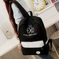 2016 nuevas mujeres de coloridas mochilas de lona mochilas hombres bolsos de escuela del estudiante para chica chico Casual viaje bolsas EXO Mochila t56