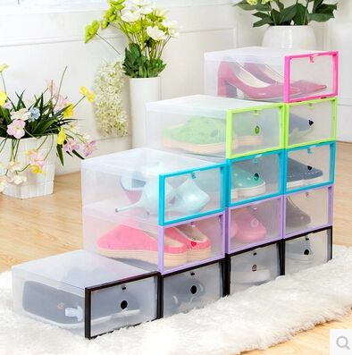 Marvelous 5PCS Shoe Storage Organizer Clear Foldable Shoe Cabinet Plastic Storage Box  Shoes Box Drawer Organizer Stackable Shoe Gift Box In Storage Boxes U0026 Bins  From ...