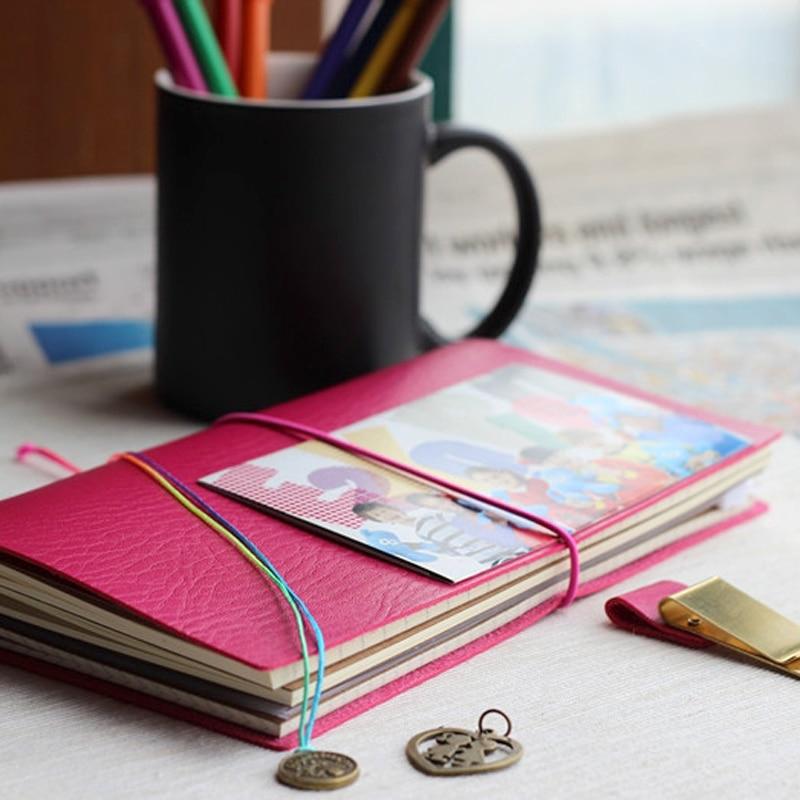 Винтаж портативный кожа путешественник notebook Изысканные классический планировщик путешествий/журнал/запись 6 цвета A6