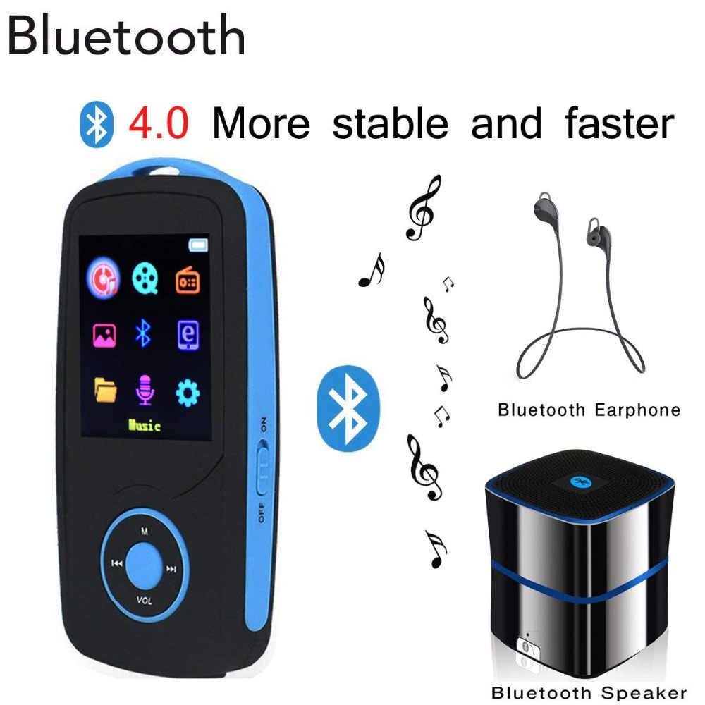 Новая обновленная версия 2019 года, Bluetooth 4,0, музыкальный плеер, цветной экран меню, высокое качество, без потерь, с fm-радио, рекордер