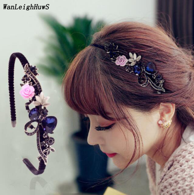 Autumn winter contracted bowknot diamond Hair band Women's hair clips Headwear Lady accessories Set auger hairpin yiwu wholesale the new 2016 limited rivet set auger handbag contracted with diamond crystal diamond bag