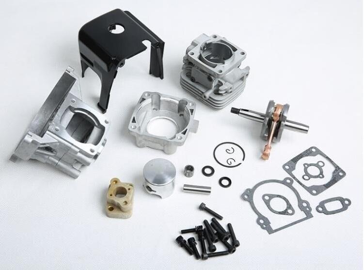Pièces de moteur de puissance élevée, kit de cylindre de mise à niveau 32cc, kit de moteur de la tête 32cc de 4 boulons adaptés 1:5 hpi km rv baja 5b pièces de moteur 32CC