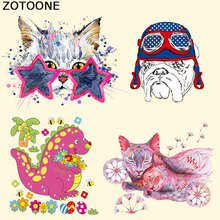 ZOTOONE Lovely Animal Patches for T-shirt Dresses Jeans A-level Washable DIY Accessory Decoration Heat Press Appliqued Irons E