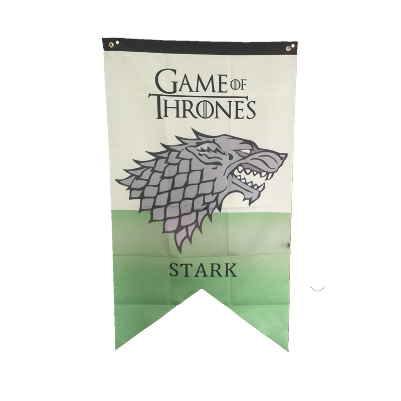 75cmx125cm game of thrones winter is coming house stark for Game of thrones garden ornaments
