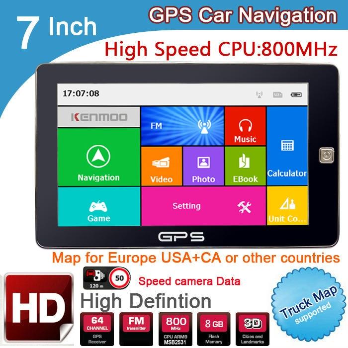 New 7 inch HD Car GPS Navigation 800M FM 8GB DDR3 2019 Maps For Russia Belarus