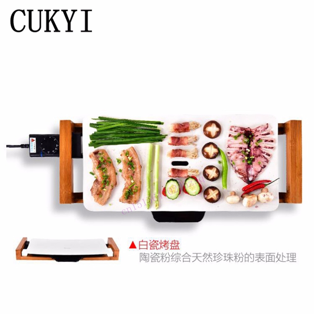 где купить CUKYI Korean ceramic electric oven barbecue large no fume non stick pan hotplate household indoor grill 2100w Rapid heating по лучшей цене