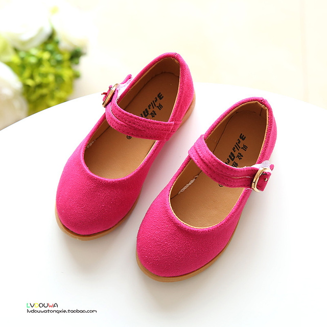 YNB 2017 Newest Kids Leather Dandce Shoes for Girls, Children's High Heel Pricess Shoes, Pink Red Black Girls Singe Shoes Sandal