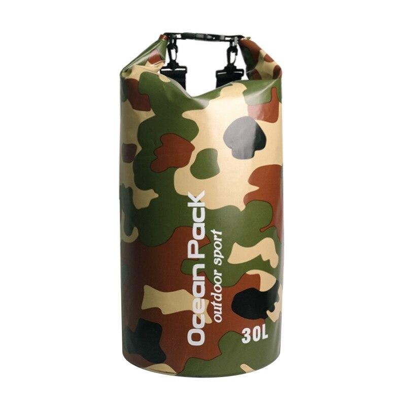 Camouflage Pack Swim Waterproof Drift Bag PVC Bucket Package Beach Diving Bag Water Proof Bag