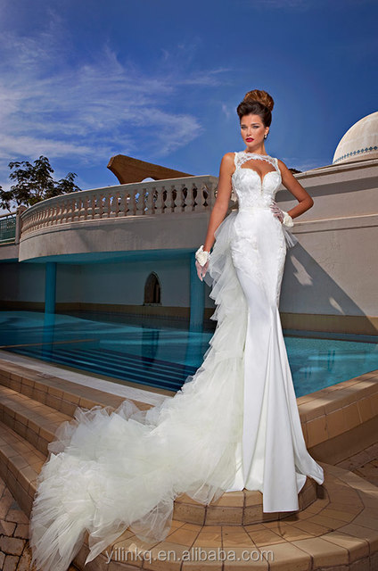 Dimitrius Dalia Detachable Train Mermaid White Indonesia Bridal Gown Ebay China Custom Made Alibaba Lace