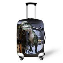 3D Animal Dinosaur Prints Luggage Waterproof Covers for 18-30 Inch Travel Trolley Suitcase Elastic Dust Rain Cover(China)