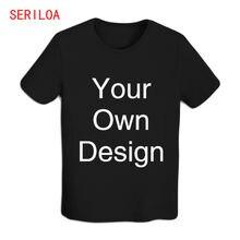 Мужская футболка персонализированные футболки на заказ с бесплатным