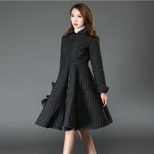 4b354bd4fd Oversize płaszcz płaszcz zimowy kobiety sukienka w dużym rozmiarze styl  tłoczone bawełny kurtka zimowa kobiety czarna