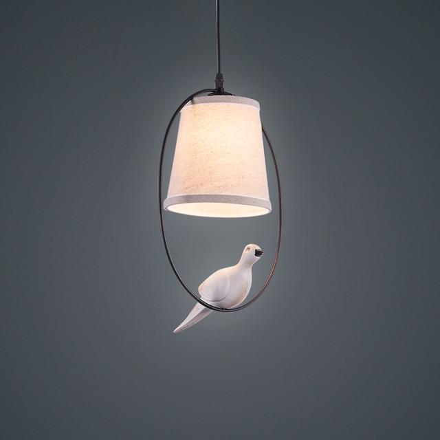 Pendant light for home lighting Modern white cloth l&shade bird Pendant Lights creative Art Pendant L&s & Pendant light for home lighting Modern white cloth lampshade bird ...