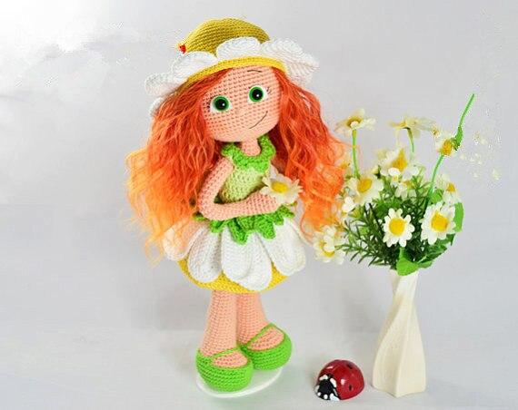 Amigurumi Häkeln Blume Stil Puppe Namens Han Rassel Puppe Und
