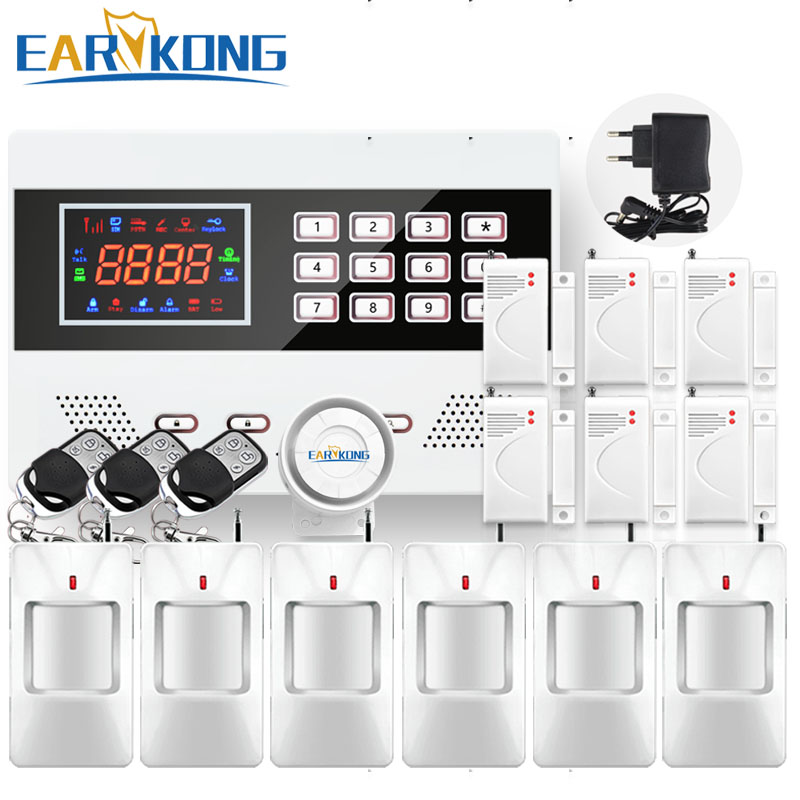 433MHz Wireless GSM Alarm System Russian English Spanish French Portuguese Polish Home Security Door Open Detector Sensor Alarm
