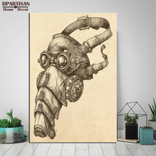 DPARTISAN wall painting prints and posters for Steampunk Art Print Wall pictures home decor wall art no frame painting SP-59