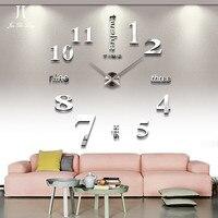 DIY Clock Decor Large Roman Mirror Metal Acrylic Mirror Oversize Clock Sticker Living Room Decoration