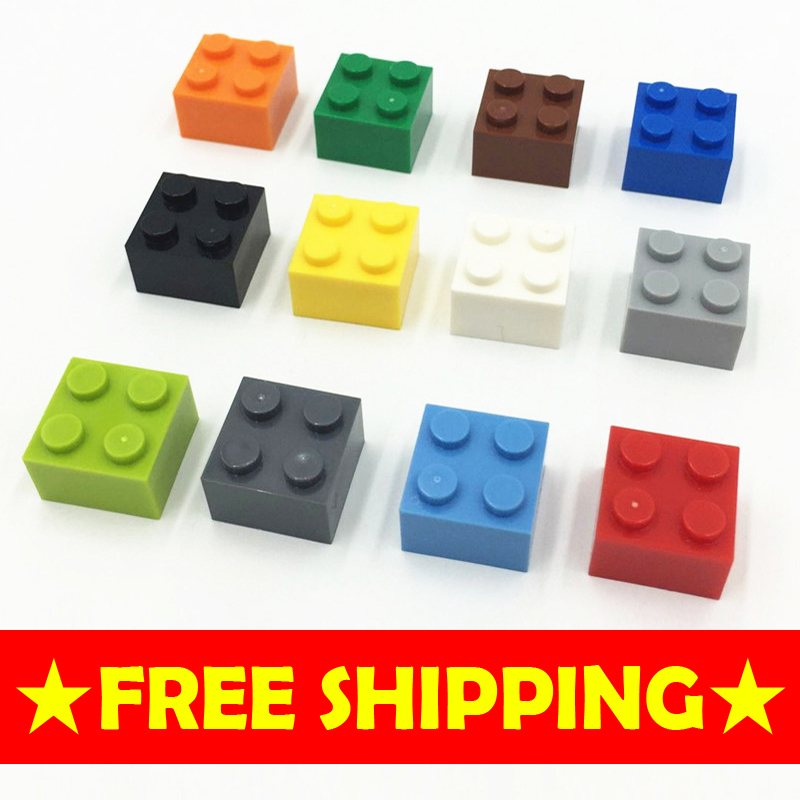 Yuego Toys high brick 2*2 70P DIY kid woma diamond Building blocks enlighten playmobil ABS minecraft
