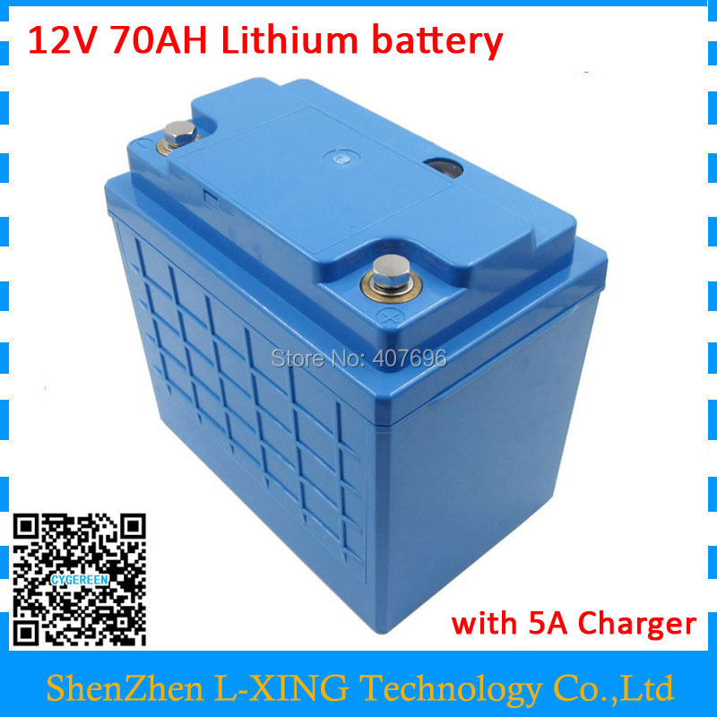 lithium ion battery 12v 70ah for Medical Equipment/ Scooter Bicycle battery use 3.7V 5000mah 26650 cells with 5A Charger