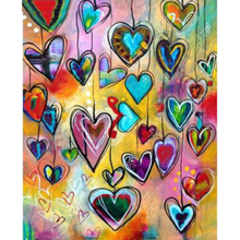 DIY 5D Diamond Painting Geometric Love Heart for Bedroom Decor Full Square Mosaic Embroidery Festival Gifts