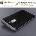 Para xiaomi redmi note 4x anti-bater à prova de choque pc + tpu case com quadro silicone case capa voltar para xiaomi redmi note 4x 5.5''