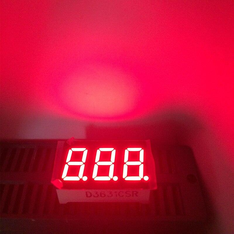 4pcs 3digit 7segments 0.36inch LED Display Common Cathode Or Common Anode 3 Digital Seven Segment LED Display