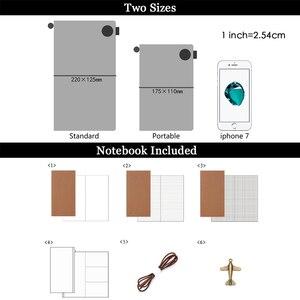 Image 2 - Moterm 100% 本革のノートブック手作り旅行日記ジャーナルクラシックヴィンテージスタイルスケッチブックプランナー送料無料