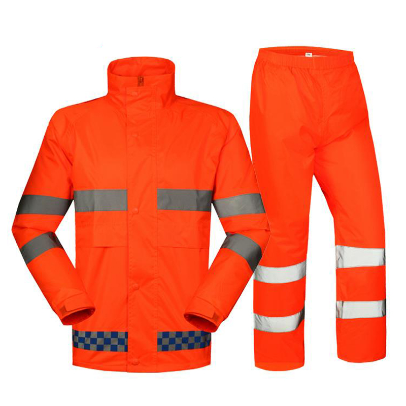 Road Traffic Road Safety Raincoat Jacket Pants Split Raincoat With Reflective Belt Windproof Waterproof Suit Raincoat DYF010