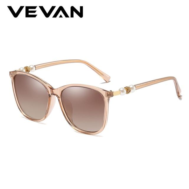 VEVAN 2019 New Square Sunglasses Women Polarized UV400 Brand Design Vintage Sun Glasses Female Driving oculos Pearl Accessories