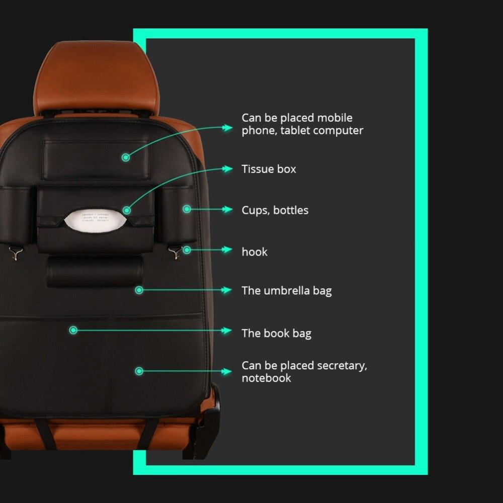 Black Car seat storage bag Car Organizer Storage Car Seat Back Bag Hanging bags Phone Holder Multi-Pockets Travel Storage Bag 80 grid jewelry hanging storage bag