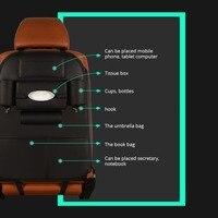 Black Car seat storage bag Car Organizer Storage Car Seat Back Bag Hanging bags Phone Holder Multi-Pockets Travel Storage Bag