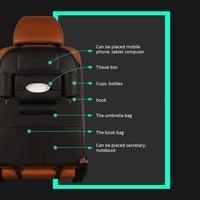 Black Car Seat Back Bag Organizer Storage Phone Holder Multi Pockets Travel Storage Bag