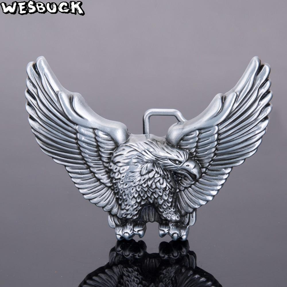 Clear Rhinestones Skull Head  Metal Fashion Belt Buckle