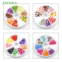 FXINBA New Mini Fimo Fruit Slices For Slime Supplies/Nails Art Tips Clay Slice Sprinkles Cake Fruit Slices Slimes Toys Lizun DIY fruit fimo slices polymer clay 1000pcs fimo fruit slices slime charms polymer clay fruit decoden fimo fruit slices nail art d
