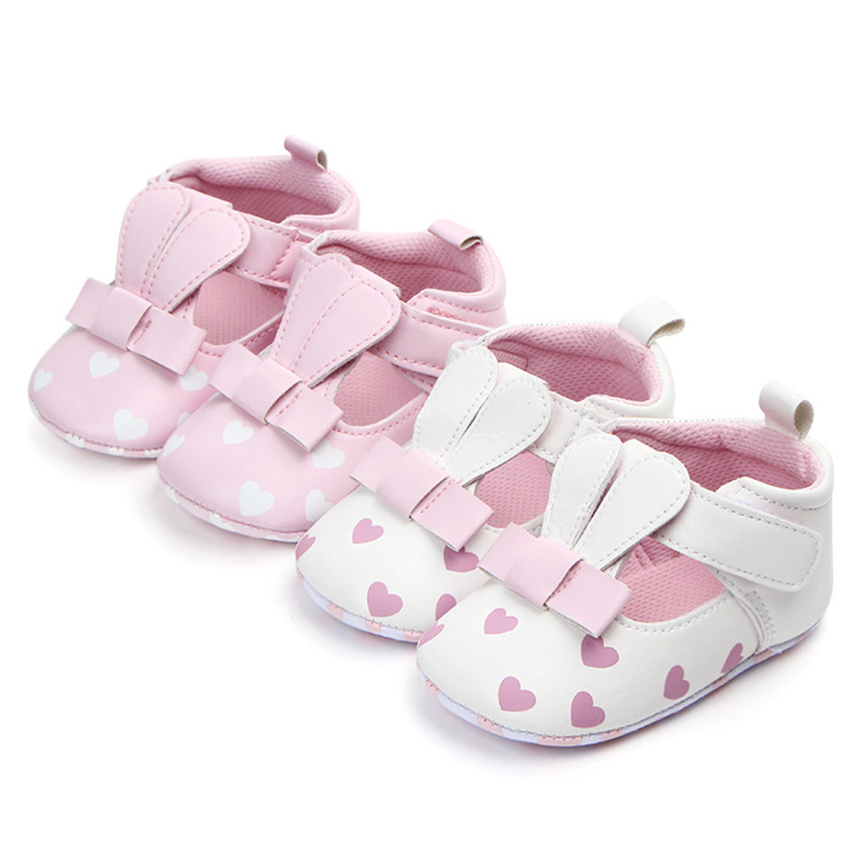 Baby Sandal Newborn Animal Pattern Infant Moccasins Print Love Soft Sole Shoes PU Leather Sandal Rabbit Ear Toddler For 0-18M