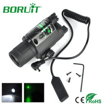Buy online Boruit 2 in1 Tactical Insight Green Laser Q5 LED 800 Lumens Flashlight Torch Light Scope Picatinny Mount for Pistol/Gun
