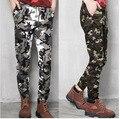 Армия стиль Мужчины повседневные брюки мальчик молодых мужчин повседневная Камуфляж брюки тонкий шнурок брюки