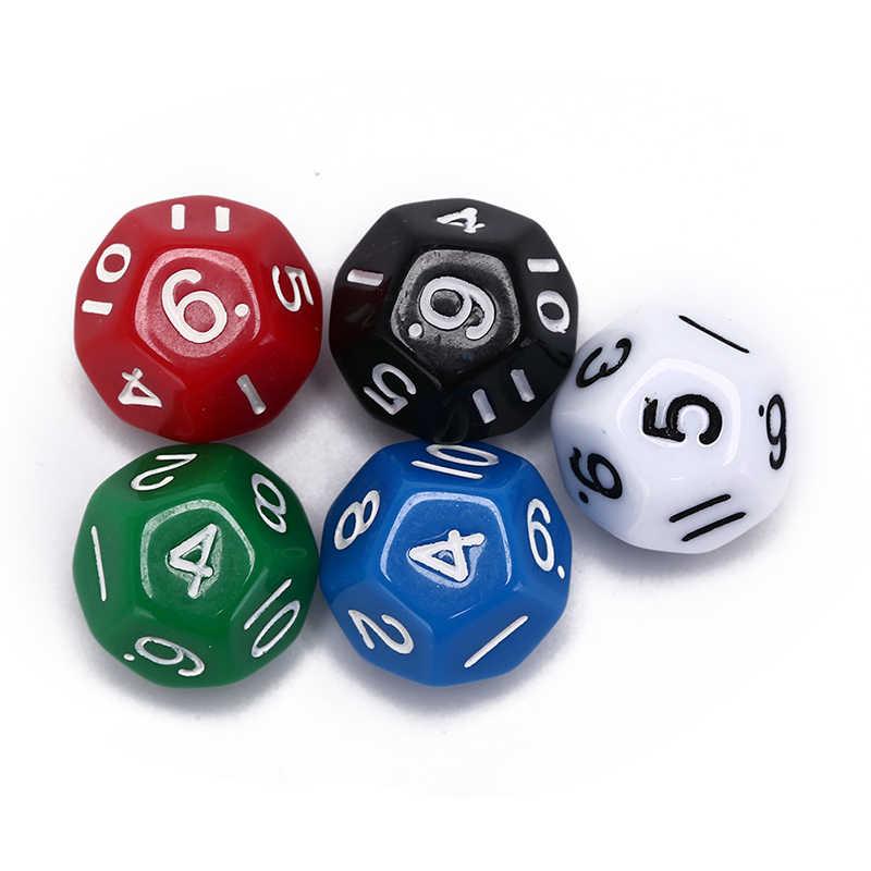 1 Pc הימורים כלי 12 צדדי קוביות 12 פנים קוביות dnd משחק D12 קוביות בר מסיבת אביזרי 25g